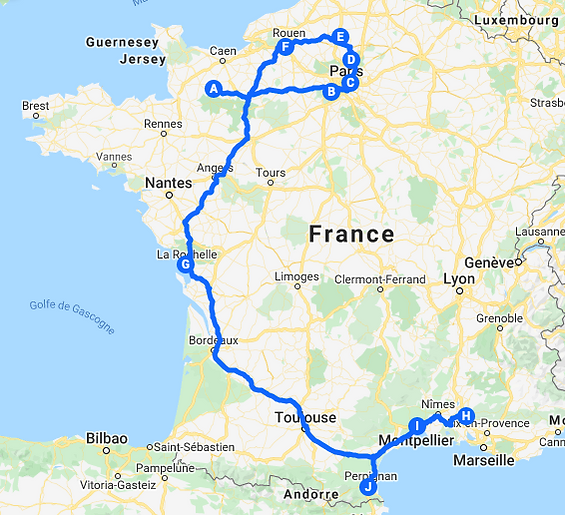 dino tour 2020 itinéraire en scooter lambretta