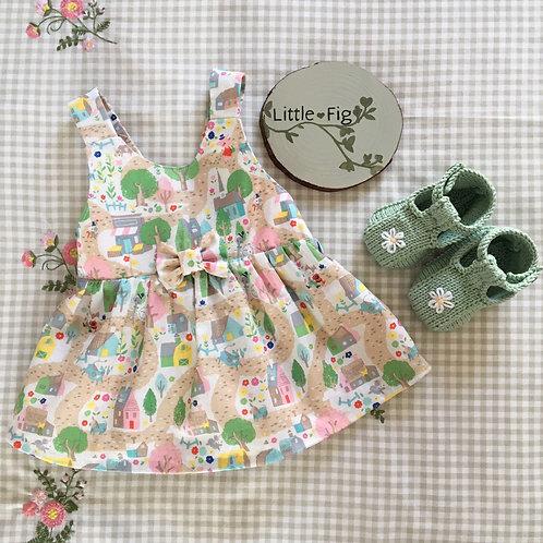 ETHEL Nursery Rhyme Print Pinafore Dress