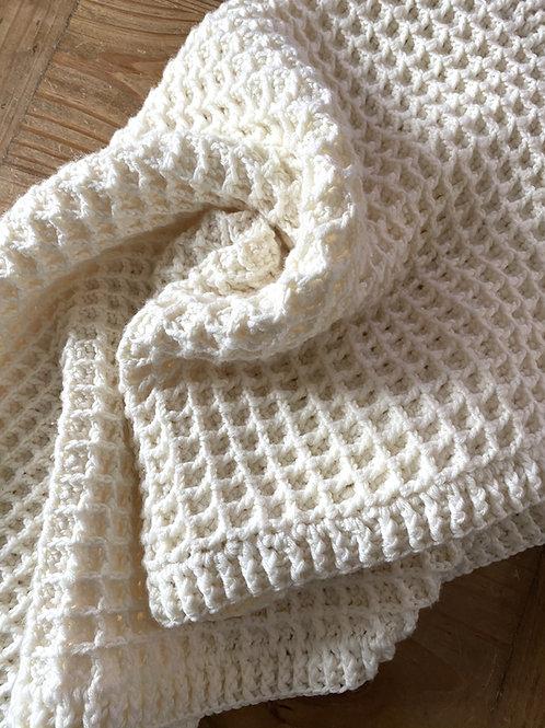 Waffle Stitch Baby Blanket