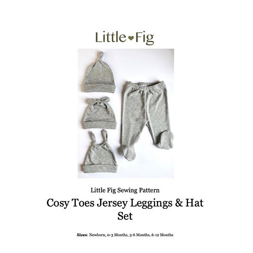 Cosy Toes Leggings & Knot Hat PDF Sewing Pattern
