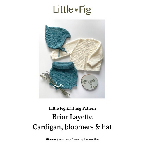 BRIAR Layette PDF Knitting Pattern