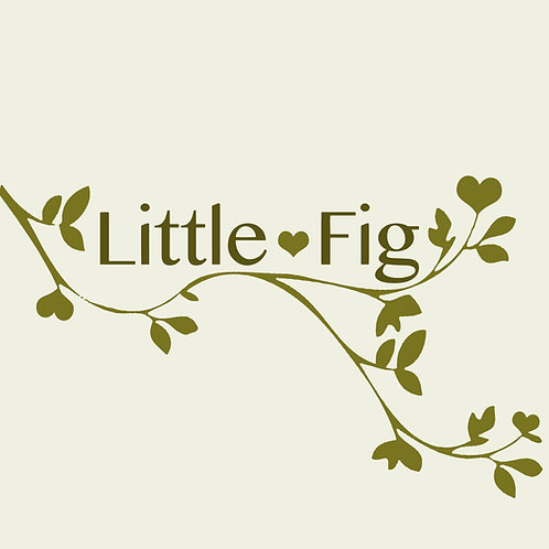 Little fig store uk olive green logo design with heart
