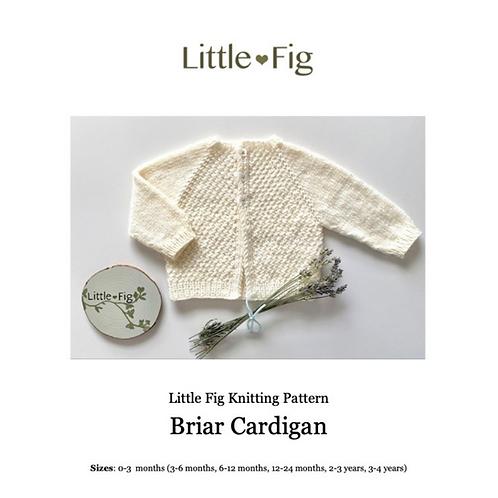 BRIAR Layette Cardigan PDF Knitting Pattern