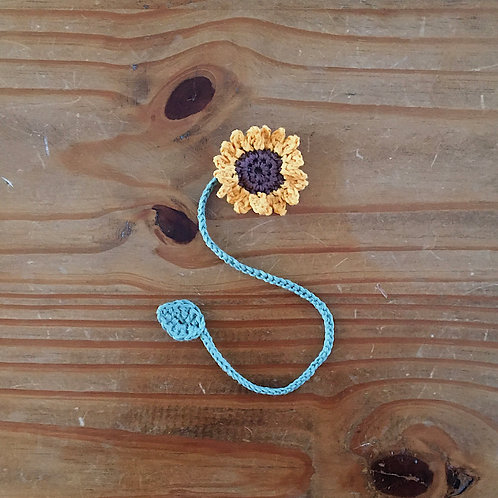 Handmade crochet cotton umbilical baby cord tie sunflower shape crochet flower motif