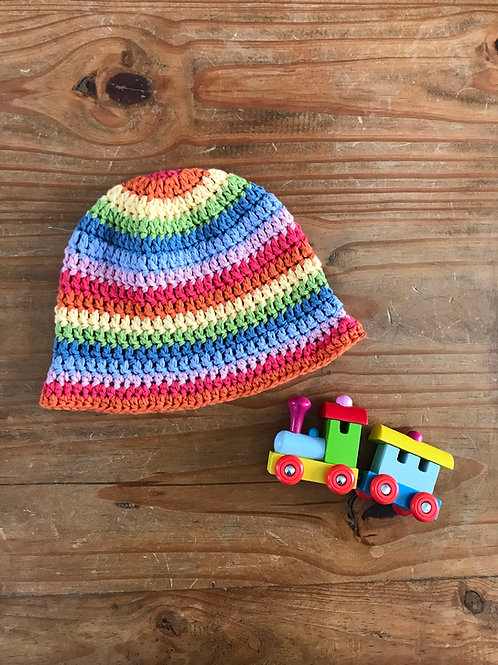 Mini Rainbow Crochet Hat