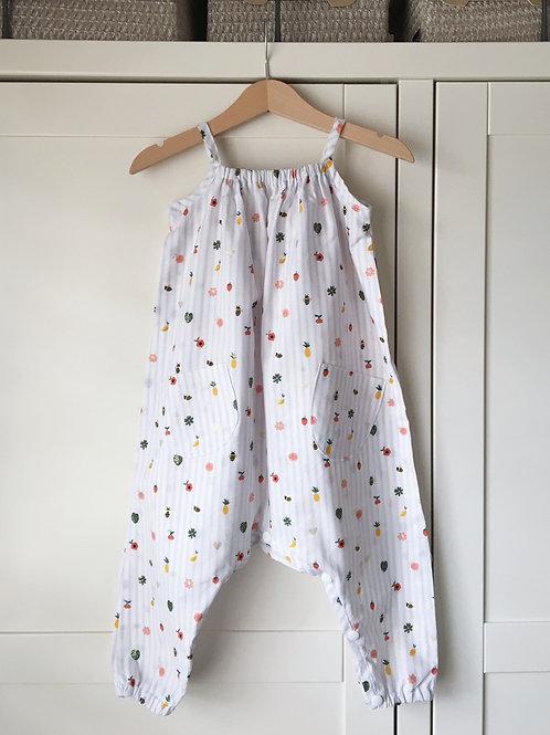 Fruit Print Cotton Jumpsuit