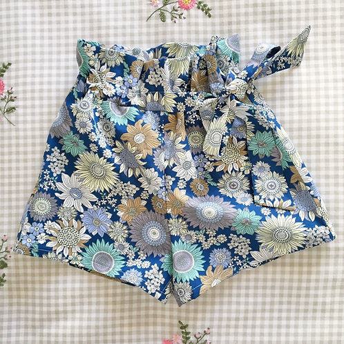 ELLA Floral Bow Cotton Paperbag Shorts