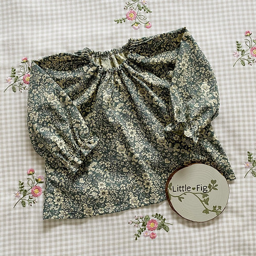 MAISIE Floral Gathered Cotton Blouse