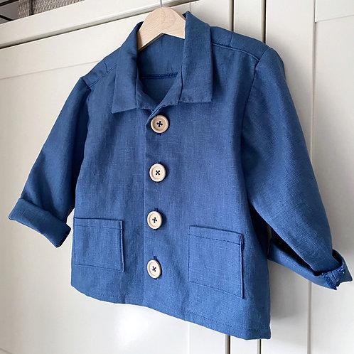 MONTY Navy Lightweight Linen Garden Jacket