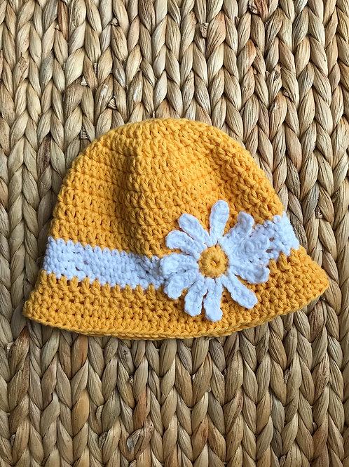 Crochet Daisy Sun Hat
