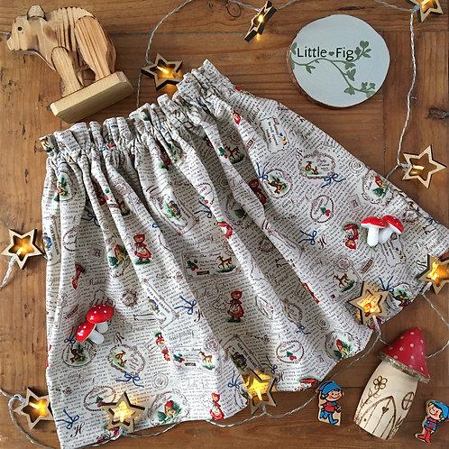 CLARA Fairytale Print Paperbag Skirt