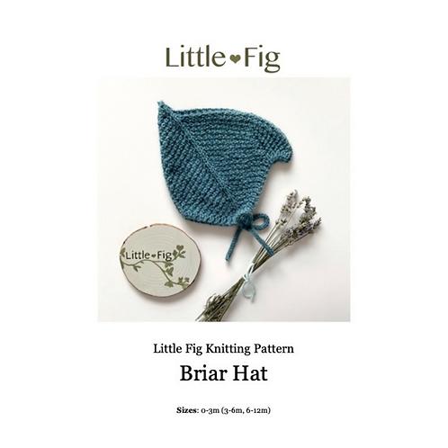 BRIAR Layette Bonnet PDF Knitting Pattern