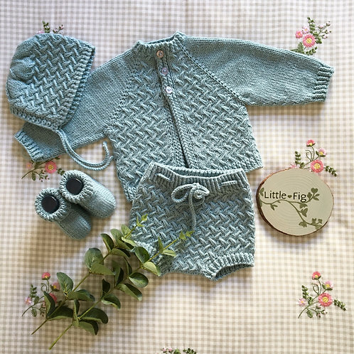 Vintage Green Layette Set and Separates