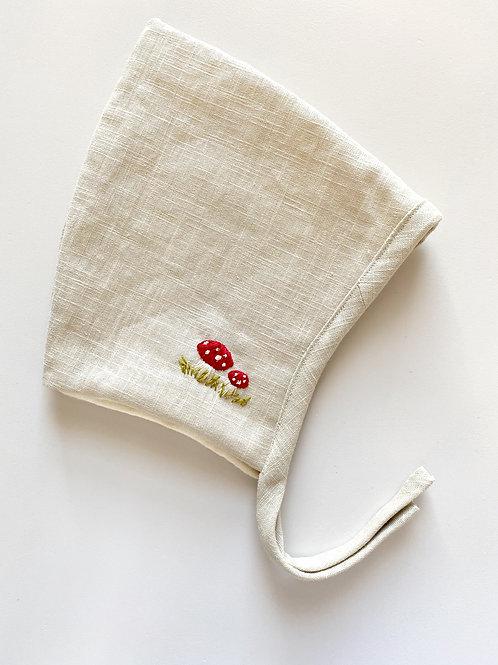OAKLEY Linen Hand Embroidered Pixie Bonnet