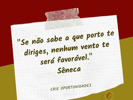 Crie oportunidades! Nada virá sozinho até você.