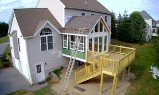 Construction of Sunroom