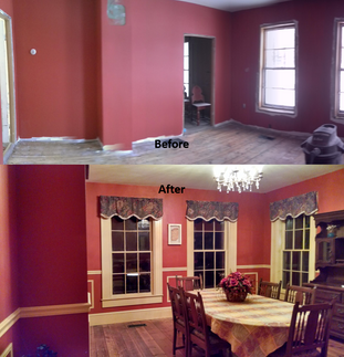 Restoration Of Dining Room In 1855 Farmhouse