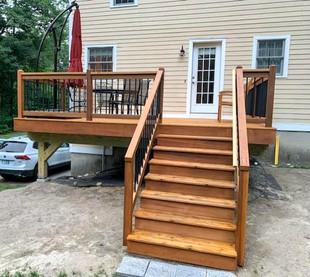Cedar Deck Stairs