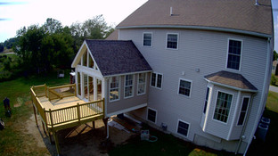 Sunroom With Deck