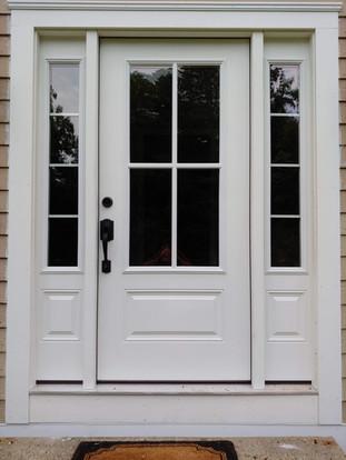 Front Door Replacement w/ PVC Trim