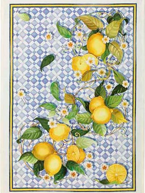 Torchon SEVILLANA Limone Lin - Tessitura Toscana Telerie et La Girafe Bleue