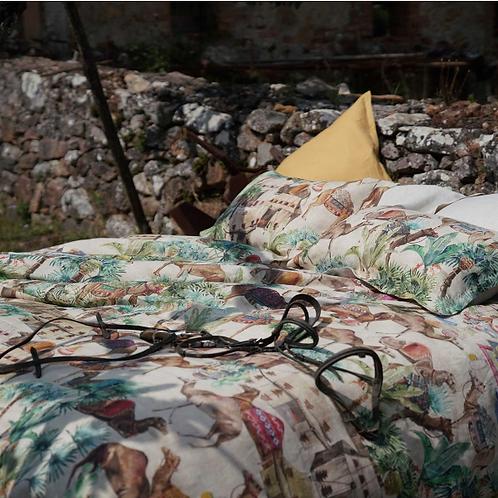 Drap MOGADOR Lin Fond Naturel - La Girafe Bleue et Tessitura Toscana Telerie