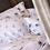 Thumbnail: Drap SHASTA Lin Blanc Papillons - La Girafe Bleue et Tessitura Toscana Telerie