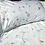 Thumbnail: Housse de Couette CHAMP FLEURI  Coton Fond Blanc - La Girafe Bleue et T. T. T.