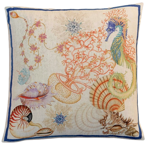 Coussin carré JELLY Lin - Tessitura Toscana Telerie et la Girafe Bleue