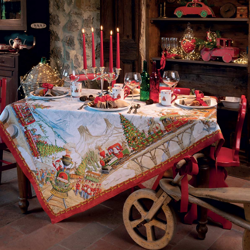 Nappe CHRISTMAS EXPRESS - Tessitura Toscana Telerie