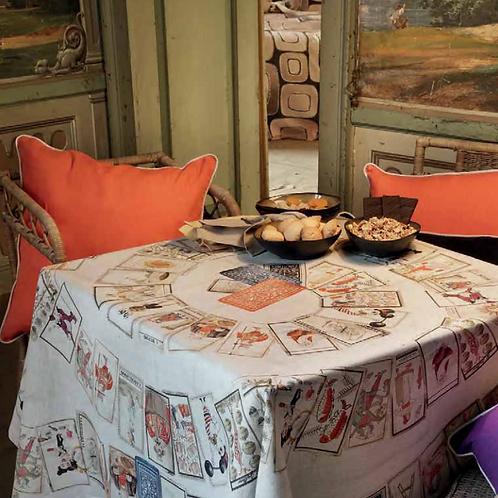 Nappe TAROCCHI Lin - 160 x 230 - Tessitura Toscana Telerie et La Girafe Bleue