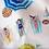 Thumbnail: BONDY - IZYLINENS Coton percale - La Girafe Bleue et Tessitura Toscana Telerie
