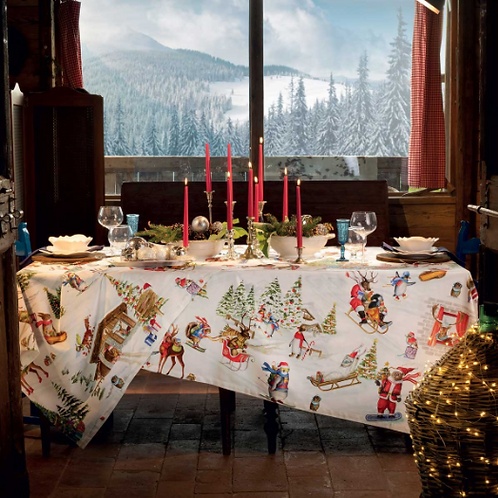 Nappe SNOWY CHRISTMAS - Tessitura Toscana Telerie