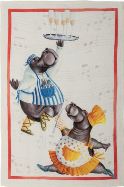 Torchon FIGARO Rosso Lin - Tessitura Toscana Telerie et La Girafe Bleue