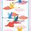 Thumbnail: Torchon FLAMINGO Volo Lin - Tessitura Toscana Telerie et La Girafe Bleue