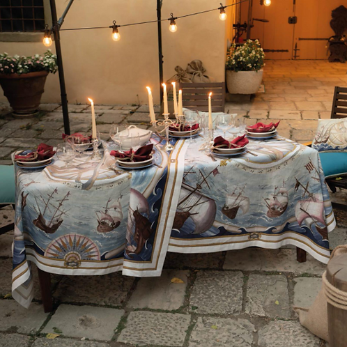 Nappe BOUNTY Lin - Tessitura Toscana Telerie et La Girafe Bleue
