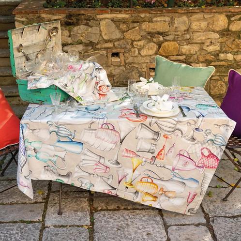 Nappe CHEERS Coton - Tessitura Toscana Telerie et la Girafe Bleue