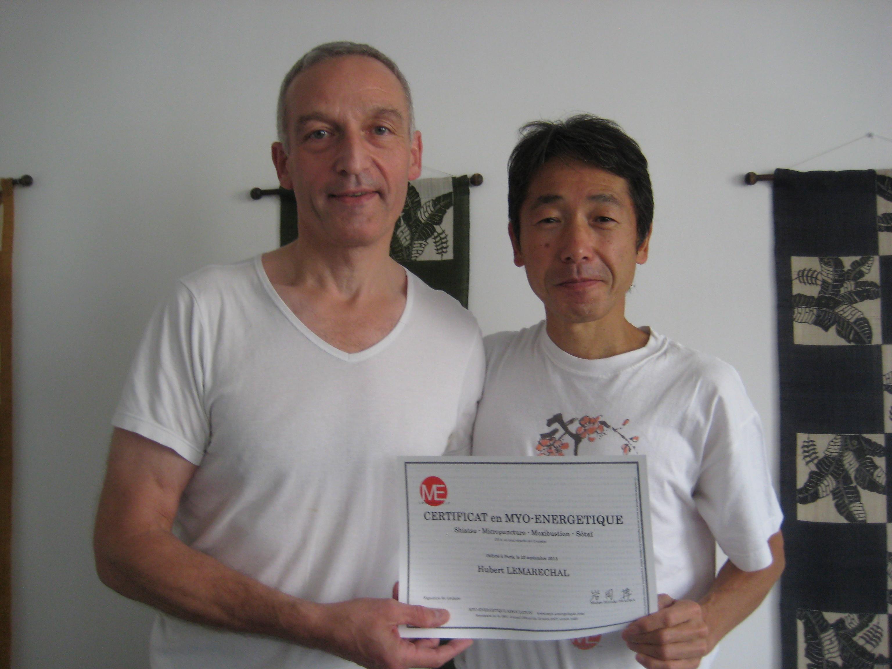 Réception du diplôme shitsu