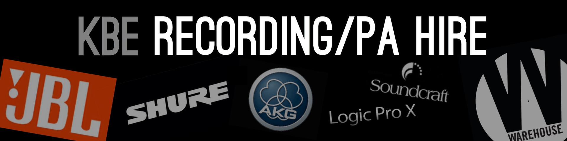 RECORDING/PA HIRE