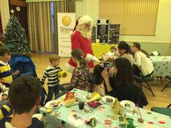 Santa arrives to SS Party Nov2015