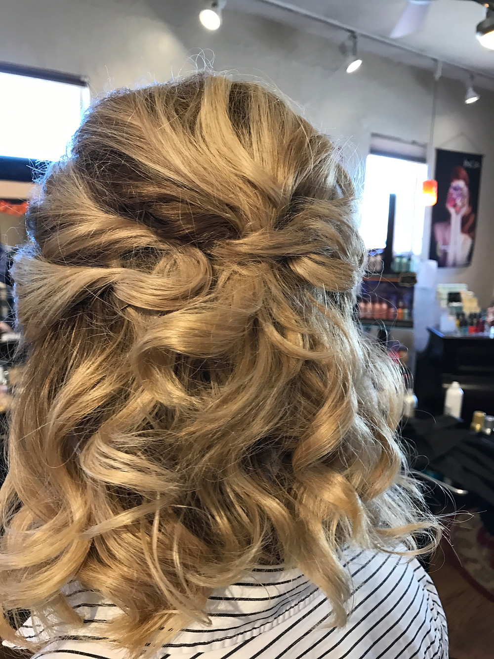some curls and bob pins - Voila!