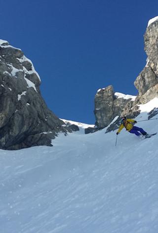 Steilwand Skifahren