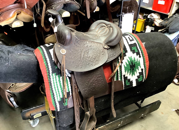 Dark Brown Western Saddle