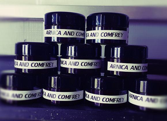 Arnica and comfrey cream