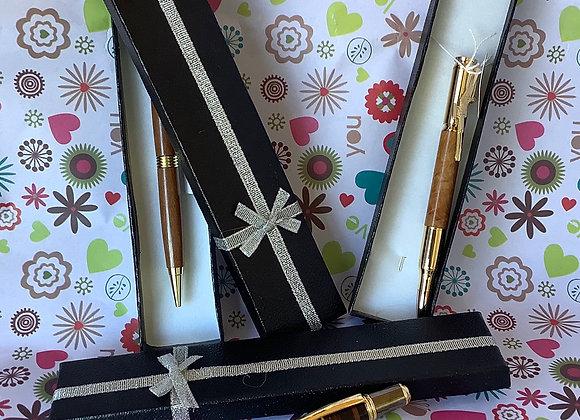 Australian Hardwood & Leather Pens