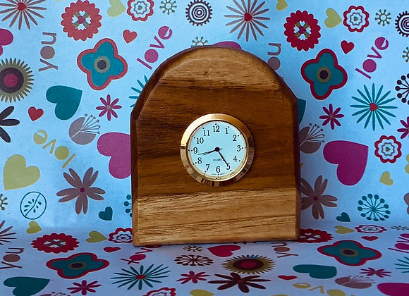 Bathurst Elm Bedside Clock