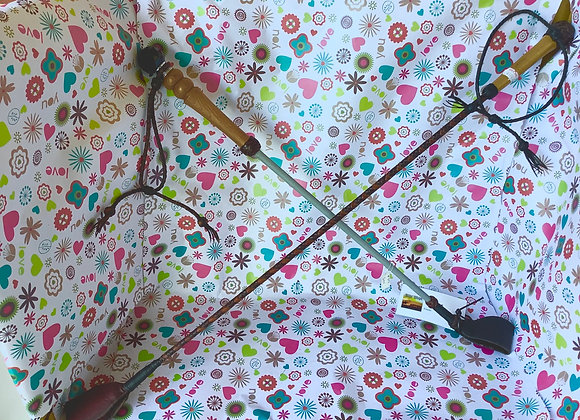 Handmade dressage whips