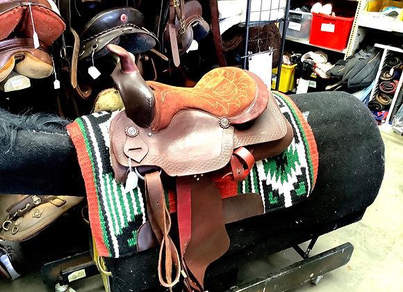 Brown Western Saddle