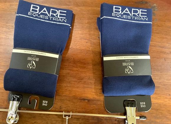 Bare equestrian socks
