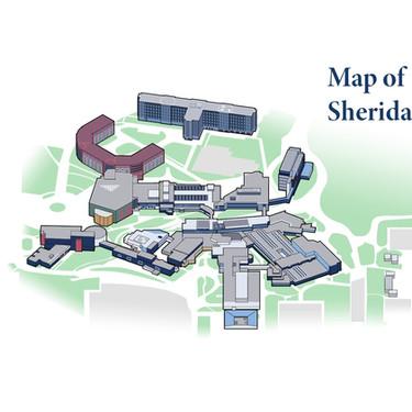 Map of Sheridan College